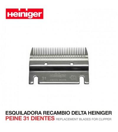 Esquiladora Recambio Delta Heiniger Peine 31 Dientes