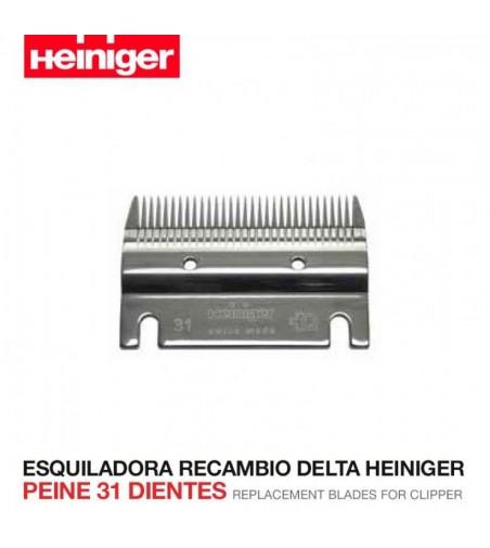 Esquiladora Recambio Delta Heiniger Peine 21 Dientes
