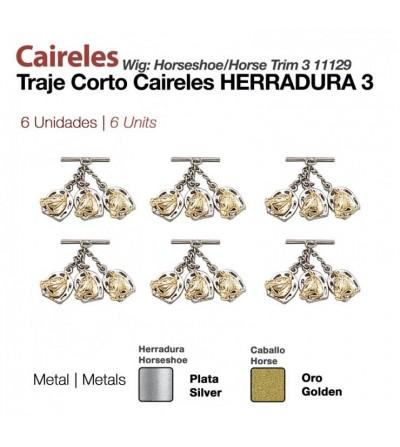 Caireles Herradura Bicolor 3 Cabezas (6 Uds)