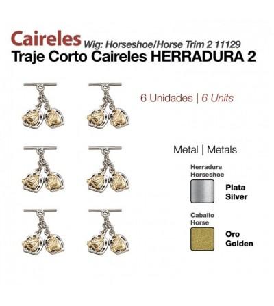 Caireles Herradura Bicolor 2 Cabezas (6 Uds)