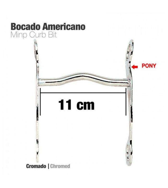 Bocado Americano Cromado para Pony 11cm