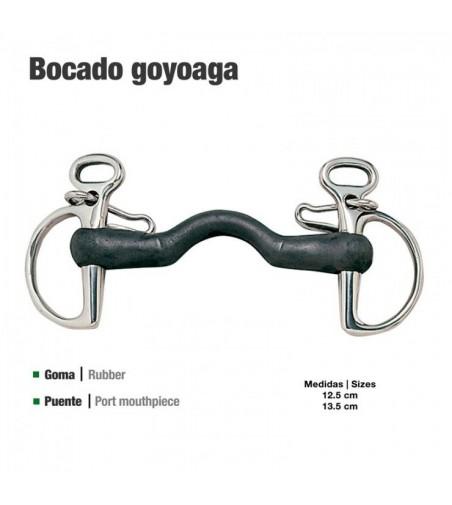 Bocado Goyoaga de Goma con Puente Rígido 21102R 1