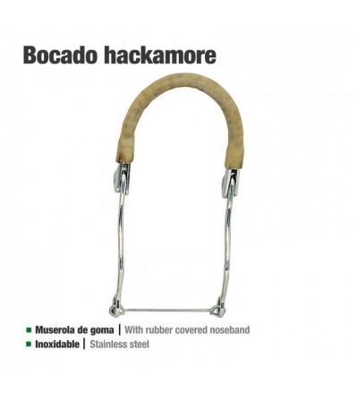 Bocado Hackamore Inoxidable de Goma 25108