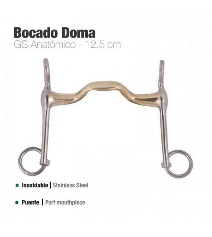 Bocado Doma Gs-Anatomic Inoxidable