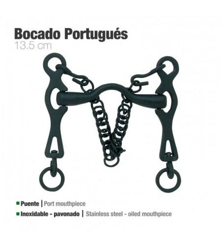 Bocado Portugués Inoxidable Pavonado 217981