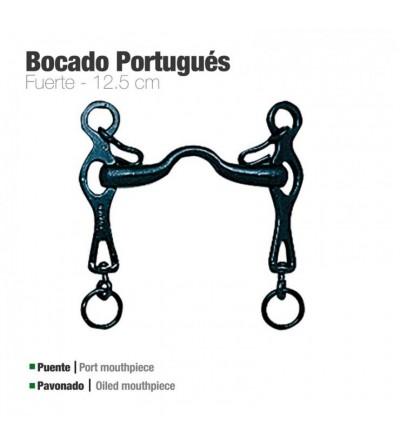 Bocado Portugués Fuerte Pavonado 12.5 cm