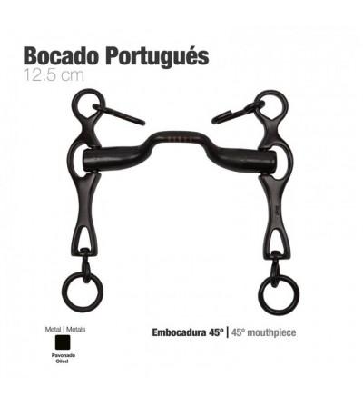 Bocado Portugués Embocadura 45º Pavonado 12.5 cm