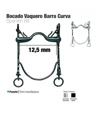 Bocado Vaquero Barra Curva 21797Si