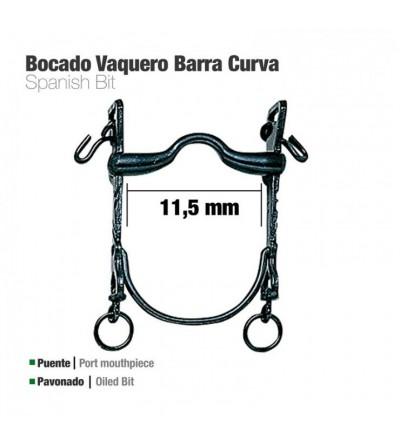 Bocado Vaquero Barra curva Puente Pavonado