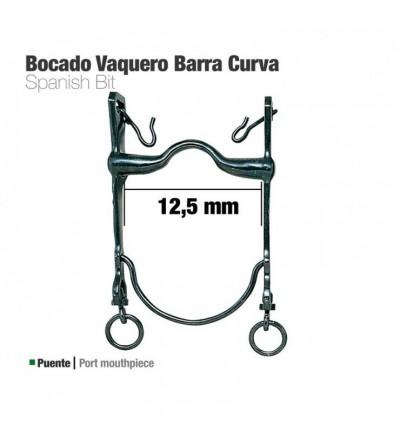 Bocado Vaquero Barra Curva 21798Si Pavonado 12.5 cm
