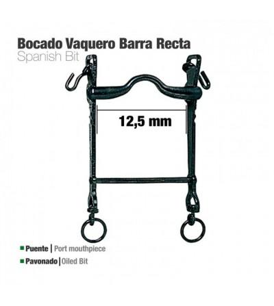 Bocado Vaquero Barra Recta Pavonado 12.5 cm
