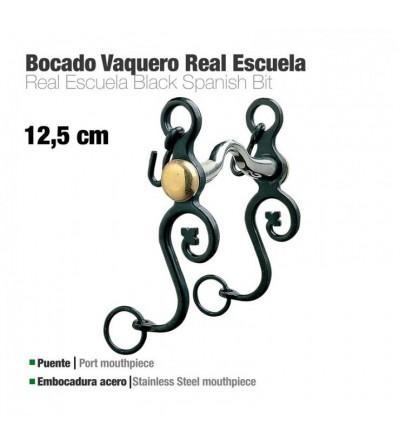 Bocado Vaquero Real Escuela Embocadura Acero 12.5 cm