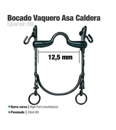 Bocado Vaquero Barra curva Asa Caldera 12.5 cm