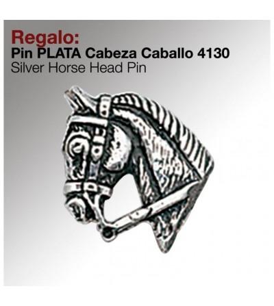Regalo Pin Plata Cabeza Caballo 4130