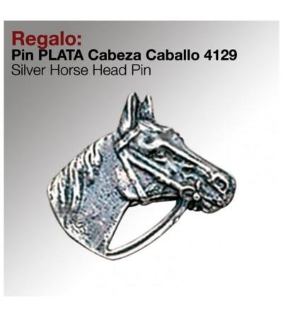 Regalo Pin Plata Cabeza Caballo 4129