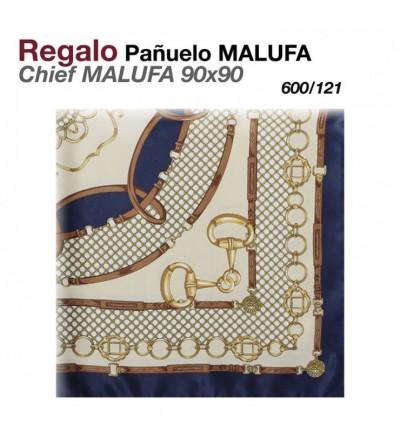 Regalo Pañuelo Malufa 90x90 Beige/Azul