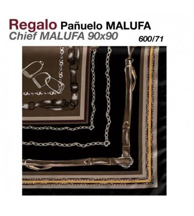 Regalo Pañuelo Malufa 90x90 Marrón