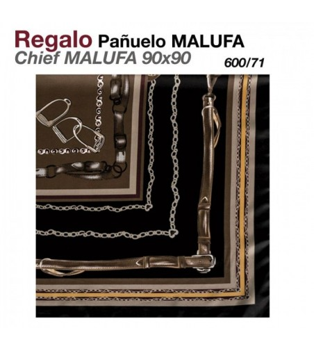 Regalo Pañuelo Malufa 90x90 Azul/Rojo