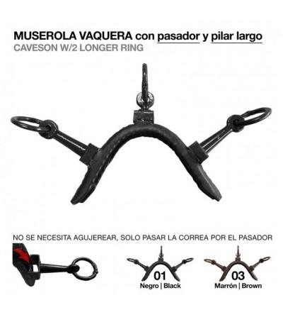 Muserola Vaquera Pasador y Pilar Largo