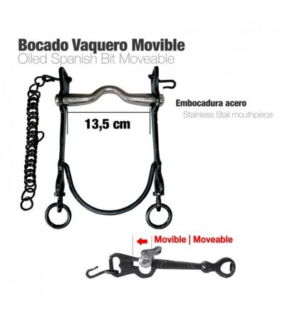 Bocado Vaquero Movible Económico Pavonado