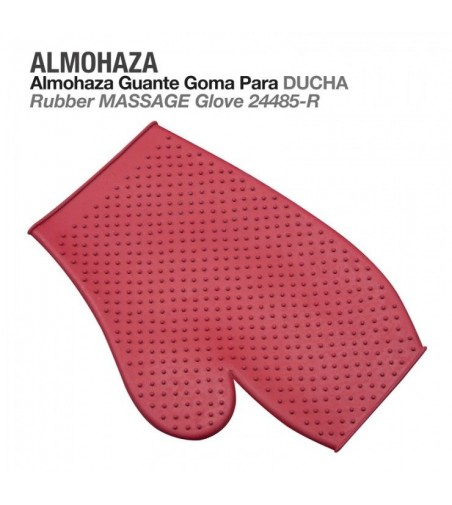 Almohaza Guante de Goma Rojo
