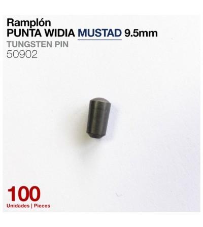 Ramplón Punta Widia Mustad 9.5 mm (100 Uds)