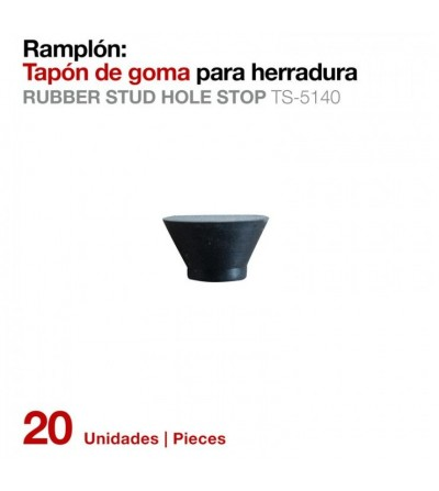 Ramplón Tapón Goma para Herradura Ts-5140 (20 Uds)