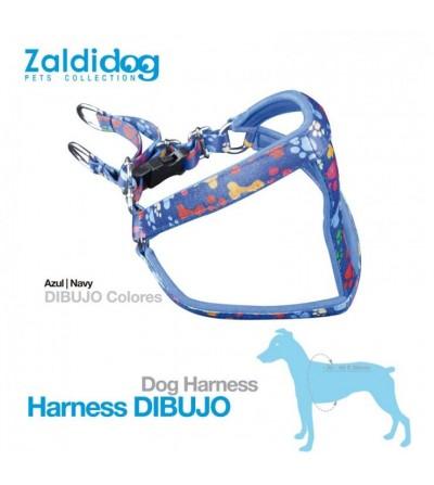 Perro Harness Colores Azul