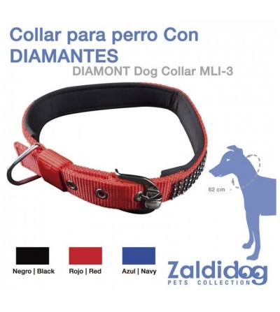 Perro Collar con Diamantes 62 cm