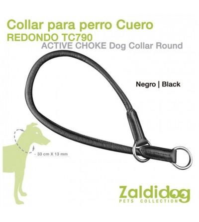 Perro Collar de Cuero Redondo TC790